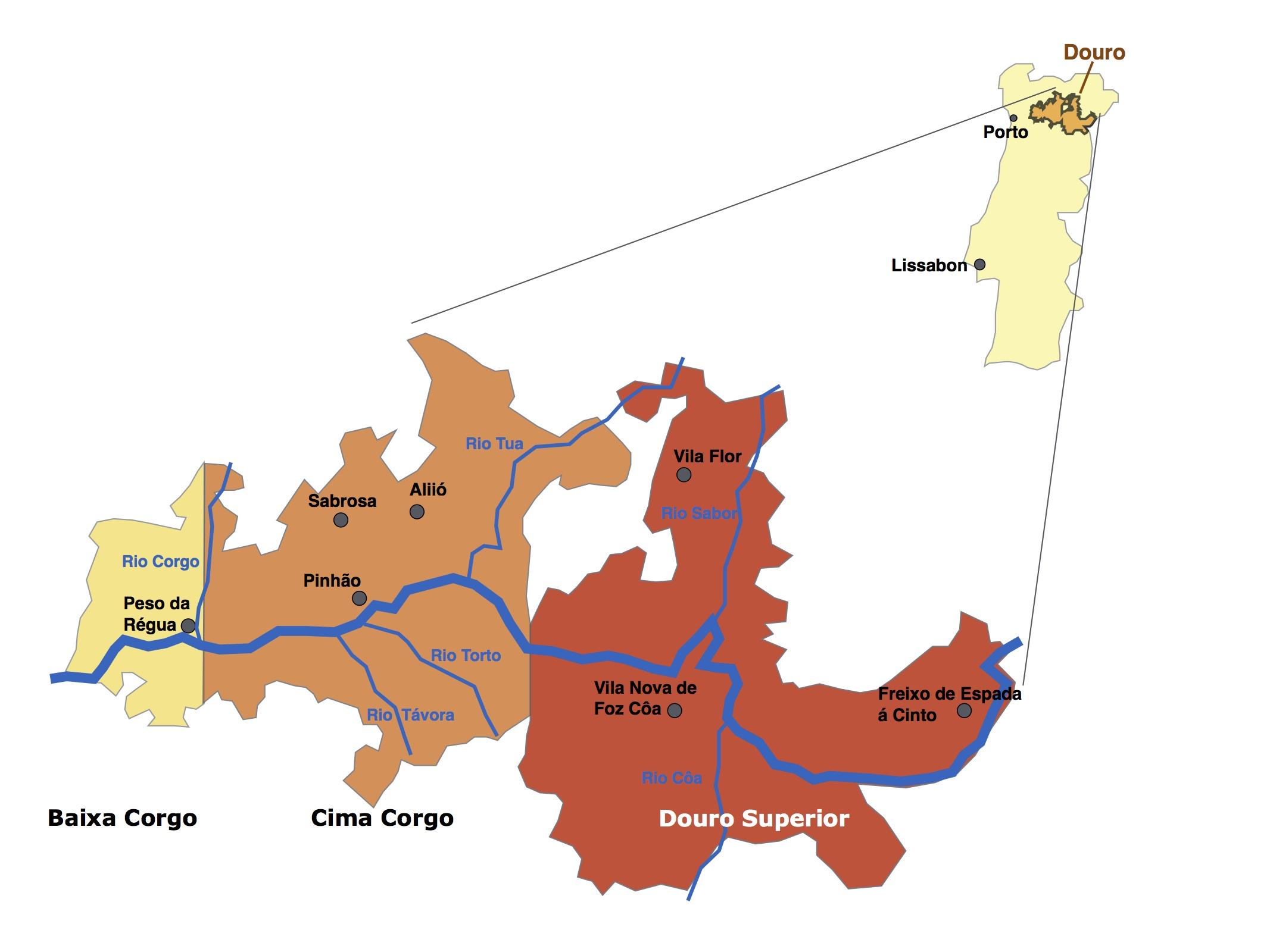 Anbaugebiet Portwein Douro Region