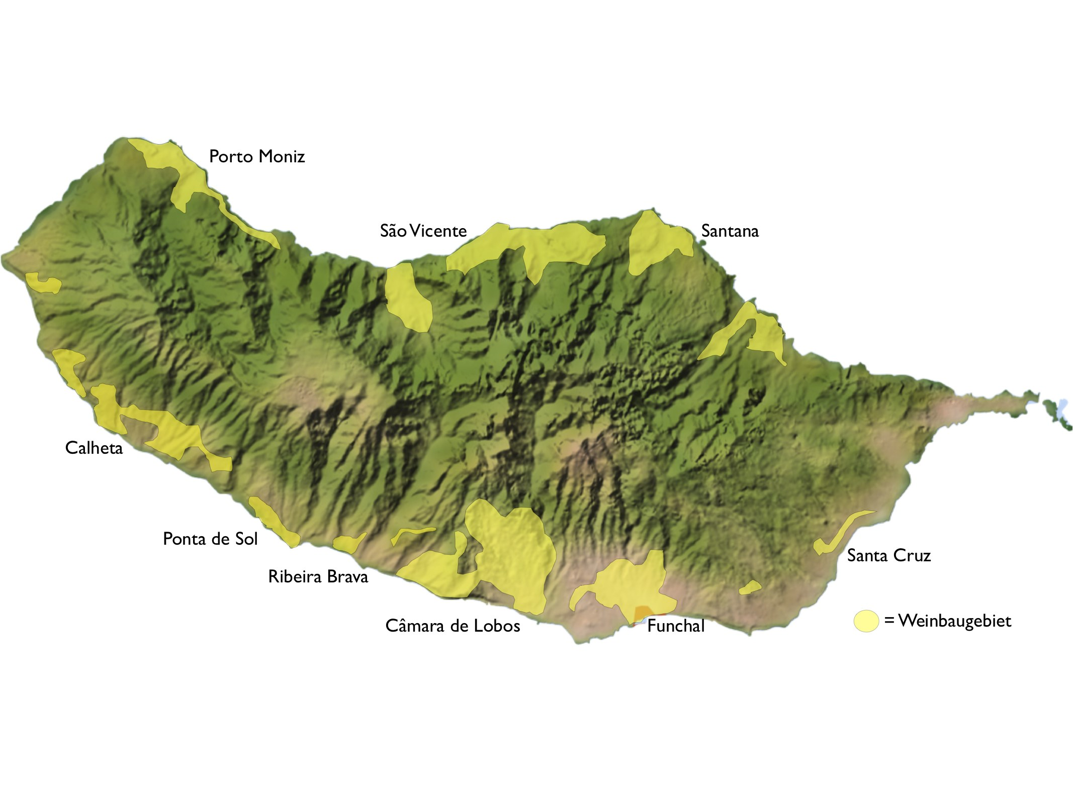 Madeira Weinbaugebiete