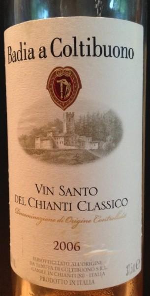 Vin Santo del Chianti Classico 2006, Badia a Coltibuono