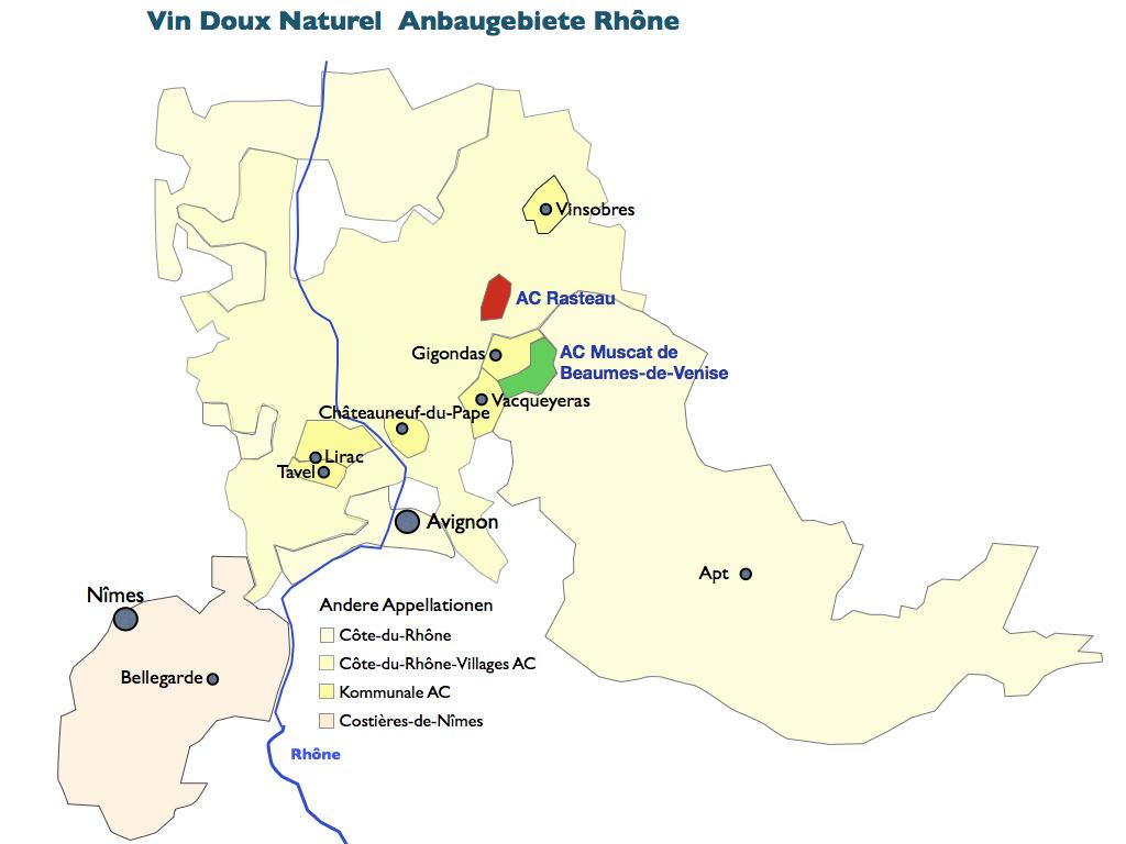 Weinbaugebiete Vin Doux Naturel Rhône