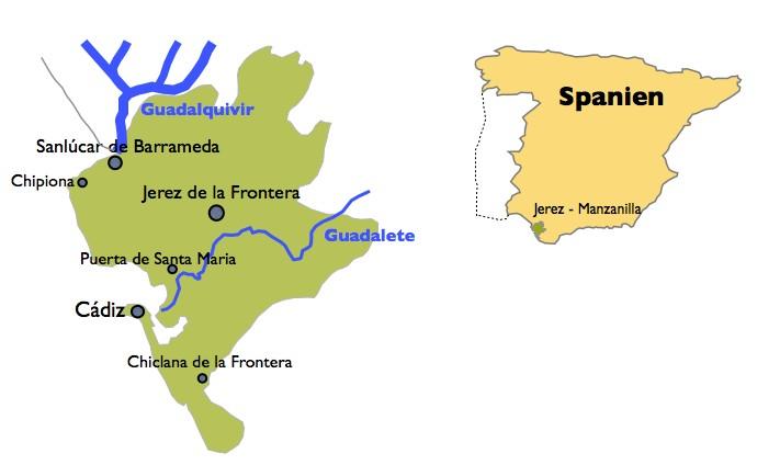 Weinbaugebiet von Jerez und Sanlúcar de Barrameda