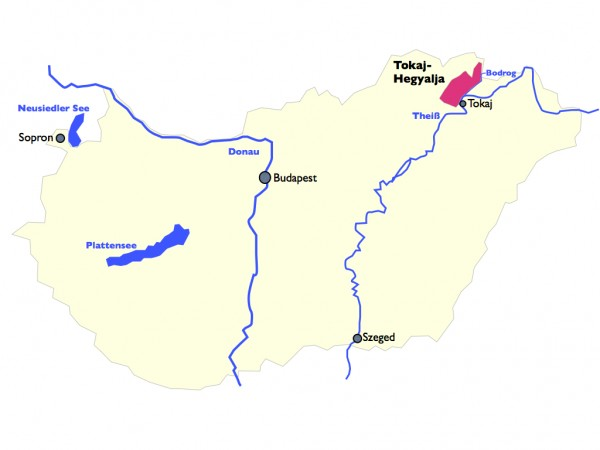 Tokaij Weinbaugebiet Ungarn