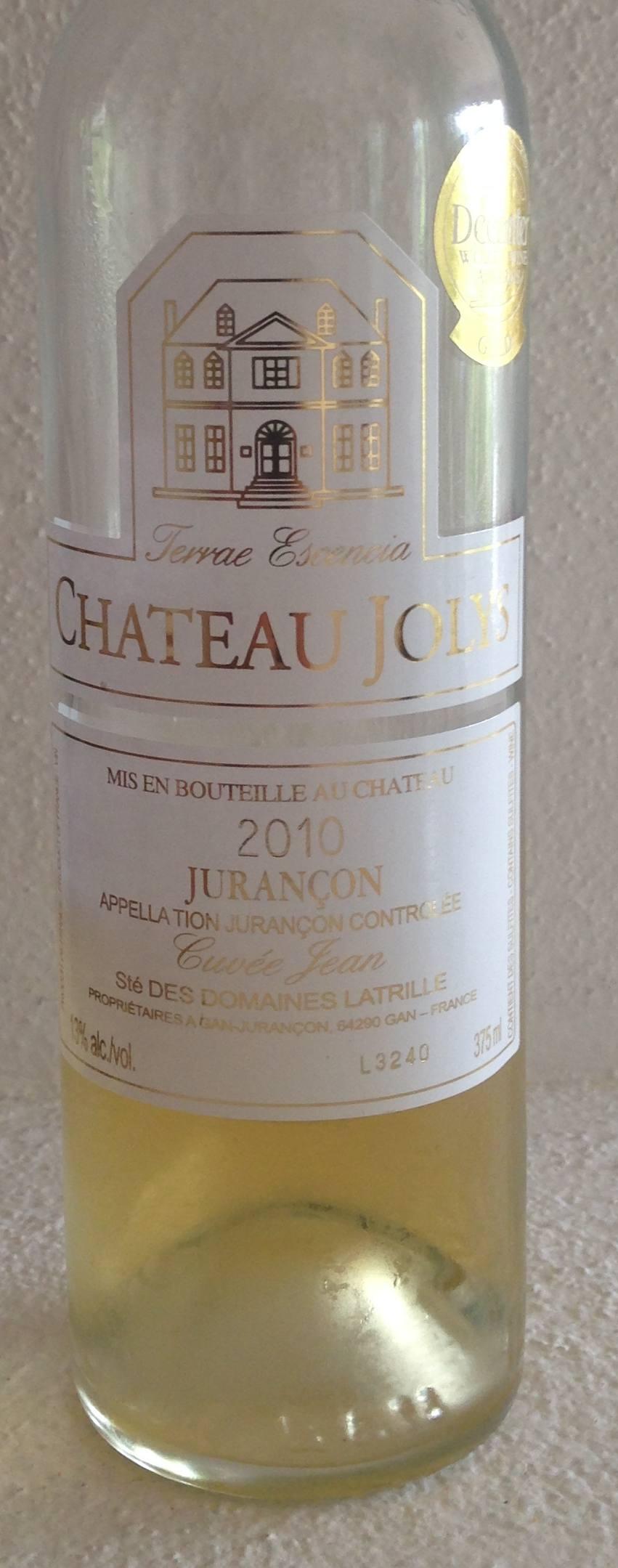 Jurancon Cuvee Jean 2010 Chateau Jolys