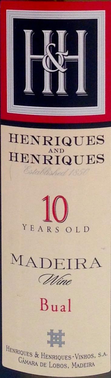 Bual 10 Years Henriques & Henriques