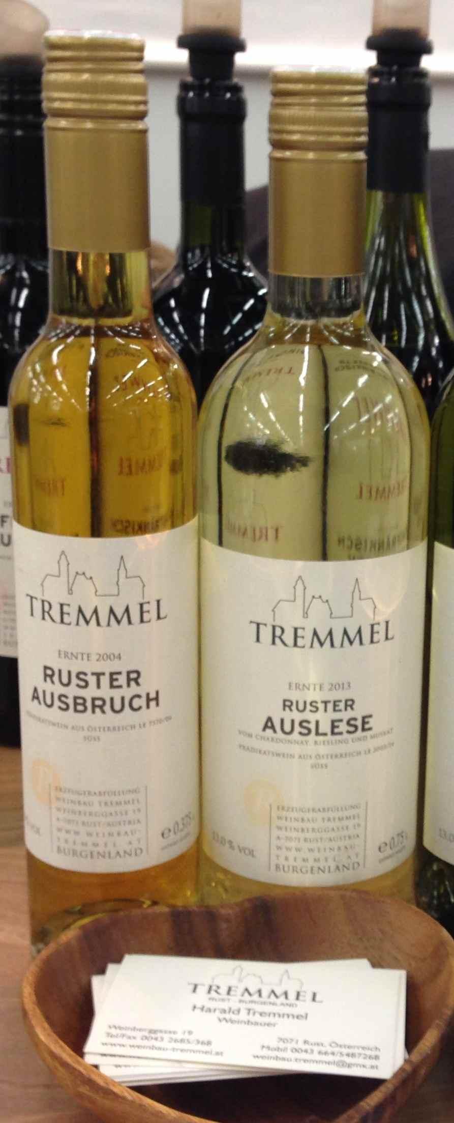 Auslese 2013 Ruster Ausbruch 2004 Tremmel