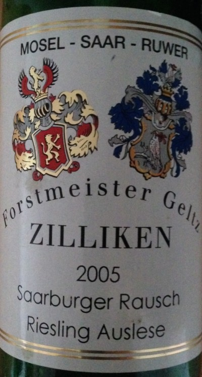 Riesling Auslese Saarburger Rausch 2005 Fortsmeister Zilliken