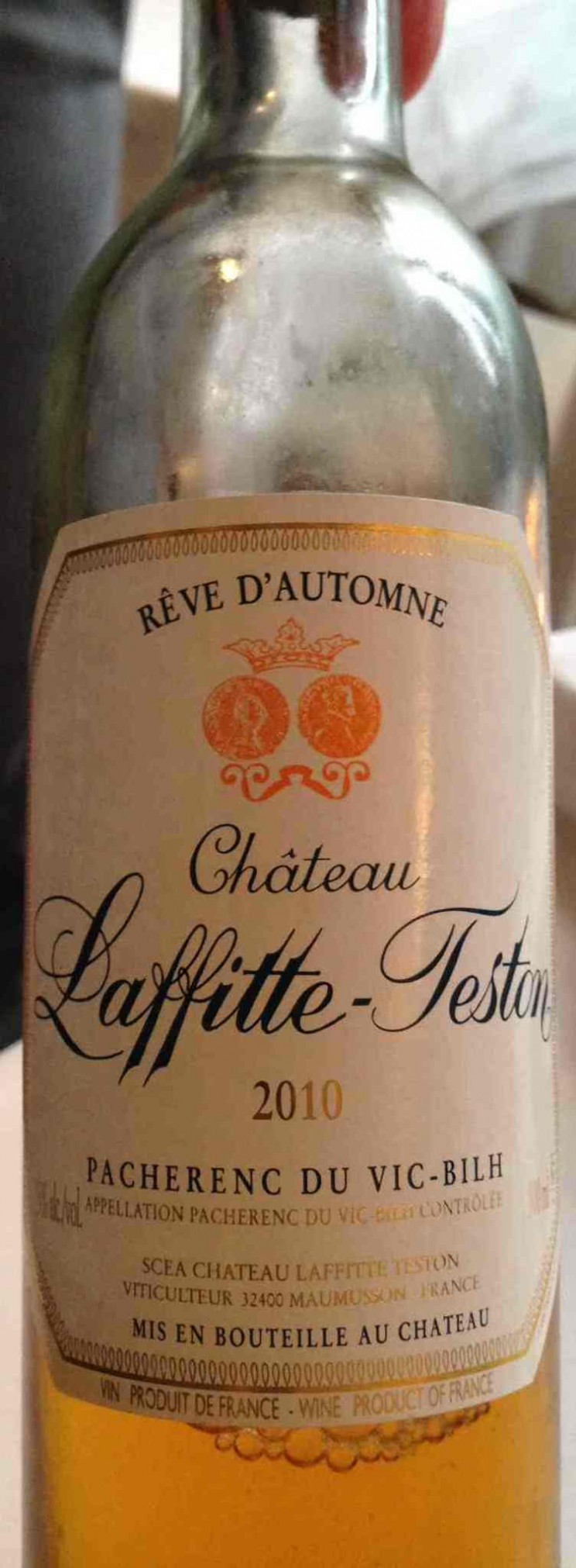 Pacherenc du Vic-Bilh 2010 Reve d'Automne, Chateau Laffitte-Teston