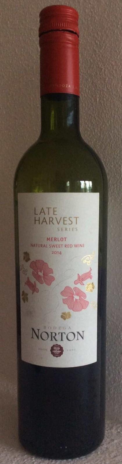 Late Harvest Sweet Merlot Norton