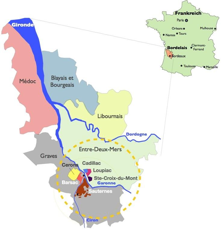 Suessweine Anbaugebiete Garonne