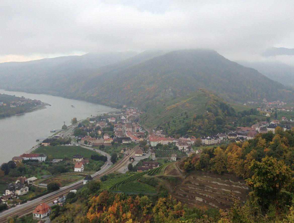 Blick auf Spitz in der Wachau mit Tausendeimerberg